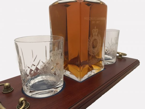 2 Engraved Glass Decanter Crystal 5