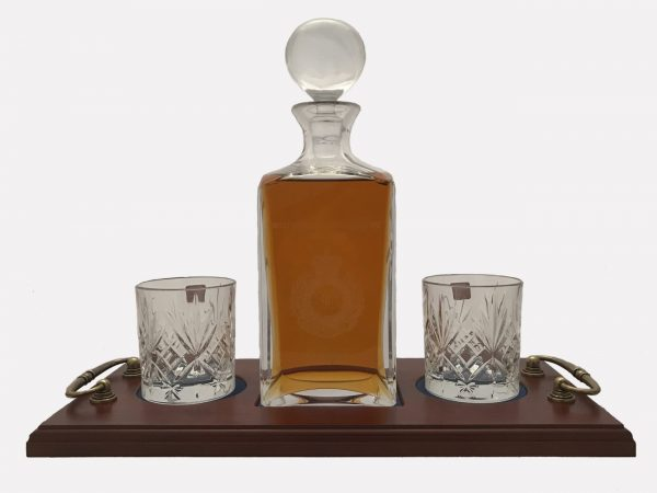 2 Glass Decanter Crystal