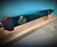Ceaser Engraved Wooden Rudis