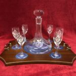 Ships Decanter and Port Glasses 1